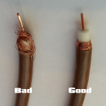 aerial cable problem fix braiding
